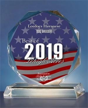 ehigh Acres 2019 Best Dog Breeder Award